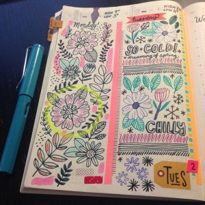 journaling or doodling
