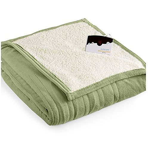 Biddeford MicroPlush Sherpa Electric Heated Blanket
