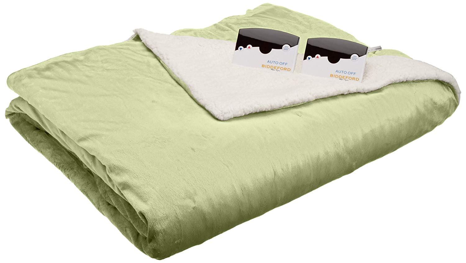 Biddeford Electric Heated Micro Mink Sherpa Blanket