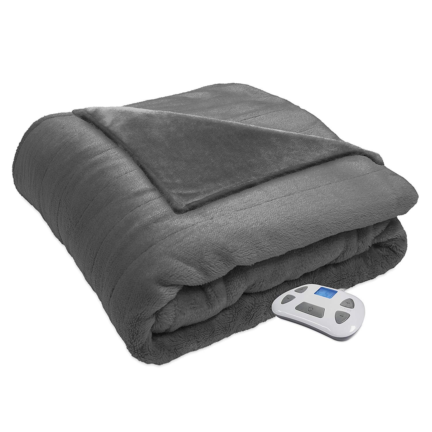 Serta Silky Plush Electric Heated Blanket