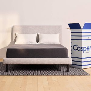 Casper mattress on a room